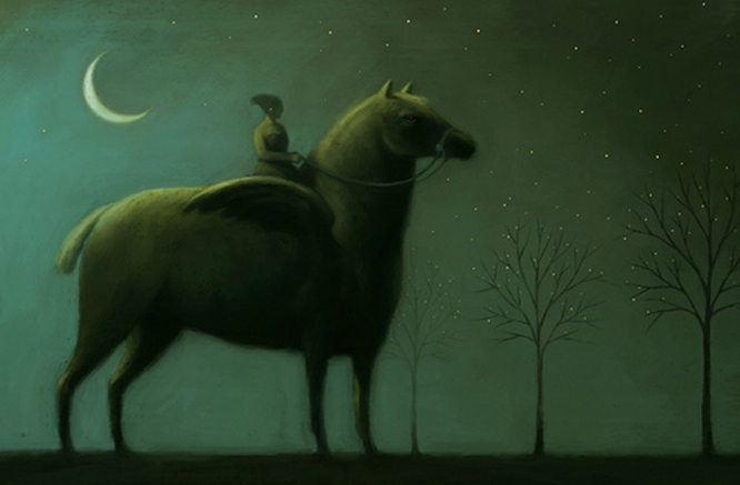 Gianni de conno cheval lune